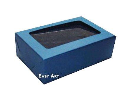 Caixas para 3 Brigadeiros - Azul Marinho