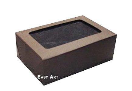 Caixas para 3 Brigadeiros - Marrom Chocolate