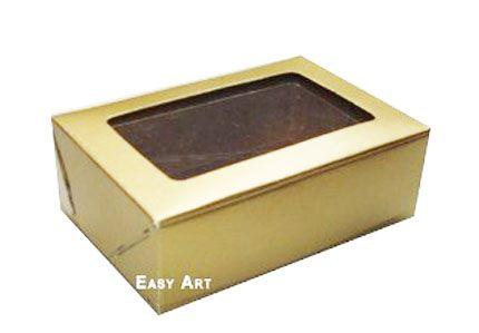 Caixas para 3 Brigadeiros - Dourado
