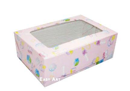 Caixas para 3 Brigadeiros - Estampado Bebê Rosa