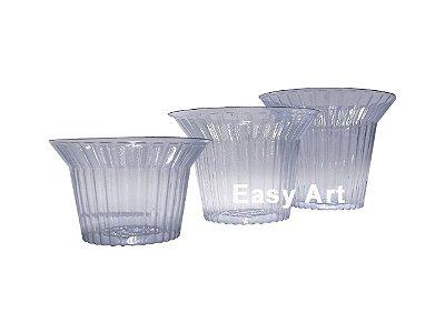 Suporte em PVC Transparente para Ovos de Páscoa - 9x6