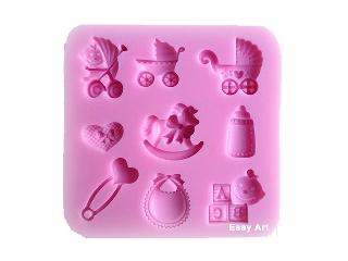 Moldes de Silicone Coisas de Bebê 1 unidade - 8,3x8,3