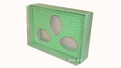 Caixas Trio Ovos de Colher - 100g Verde Poás Brancas