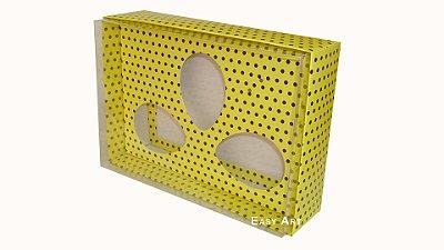 Caixas Trio Ovos de Colher - 100g Amarelo Poás Marrom