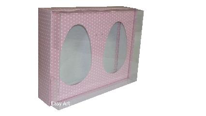 Caixas Ovos de Colher - Rosa Poás Brancas