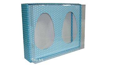 Caixas Ovos de Colher - Azul Poás Brancas
