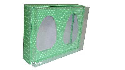 Caixas Ovos de Colher - Verde Poás Brancas