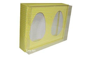 Caixas Ovos de Colher - Amarelo Poás Brancas