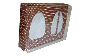 Caixas Ovos de Colher - Marrom Poás Rosa