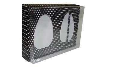 Caixas Ovos de Colher - Preto Poás Brancas