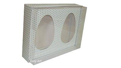 Caixas Ovos de Colher - Branco Poás Azuis