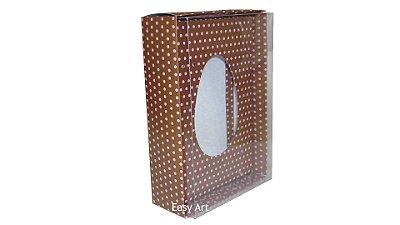 Caixas Ovos de Colher - 350g Marrom Poás Rosa