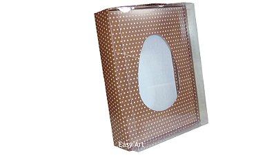 Caixas Ovos de Colher - 1 K Marrom Poás Rosa