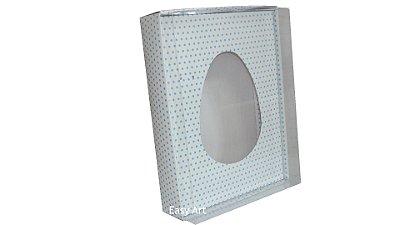 Caixas Ovos de Colher - 1 K Branco Poás Azuis