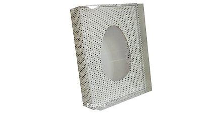 Caixas Ovos de Colher - 1 K Branco Poás Pretas
