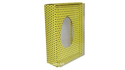 Caixas para Ovos de Colher - 500g Amarelo com Poás Marrom