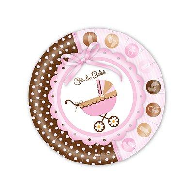 Pratos Decorados / Chá de Bebê menina