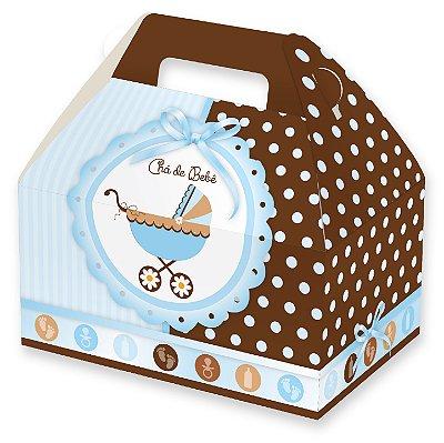 Caixas Maleta para Lembrancinhas / Chá de Bebê Menino - 12x8x6