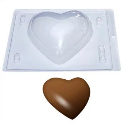 Formas em PVC para Coração de Colher - 22x16x2,5