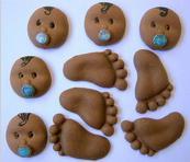 Confeitos Decorativos / Comestíveis de Açúcar - 10x10