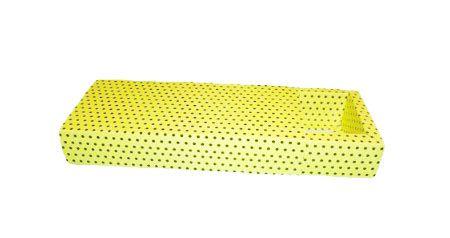 Caixa para 10 Brigadeiros - Amarelo com Poás Marrom