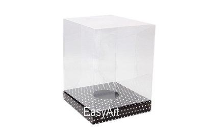 Caixa Ovos de Páscoa / Panetones - Preto Poás Brancas