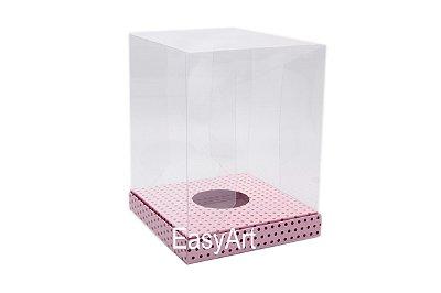 Caixa para Ovos de Páscoa de Pé - Rosa Poá Marrom