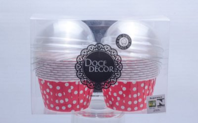 Copinho Forneável para Mini Cupcake - 5,5 x 3,5 - Vermelho