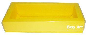 Caixa para 10 Brigadeiros / Tampa Transparente - Amarelo