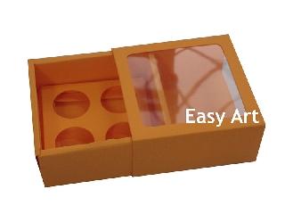 Caixas para Brigadeiro Gourmet / 4 unidades Com Visor - 8,5x8,5x4,5