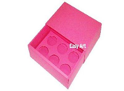 Caixas para 6 Brigadeiros - Pink