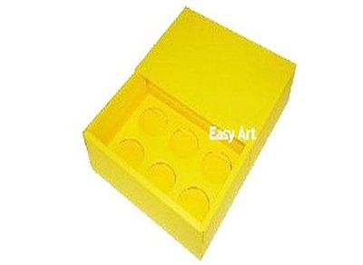 Caixas para 6 Brigadeiros - Amarelo