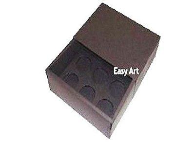 Caixas para 6 Brigadeiros - Marrom Chocolate