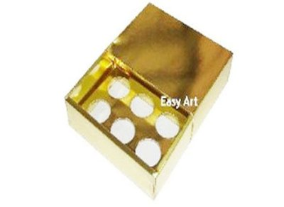 Caixas para 6 Brigadeiros - Dourado