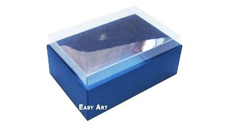 Caixa para 6 Brigadeiros - Azul Marinho