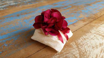 Mini Flores para Bem Casados / Tecido - Mini Dália