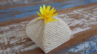 Mini Flores para Bem Casados / Tecido - Mimosa