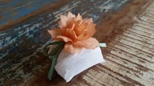 Mini Flores para Bem Casados / Tecido - Namorada