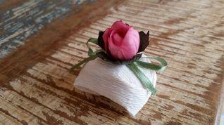 Mini Flores para Bem Casados / Tecido - Mini Botão