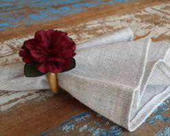 Porta Guardanapos  / Flores de Tecido - Mini Cravo