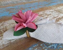 Porta Guardanapos  / Flores de Tecido - Flor de Lis