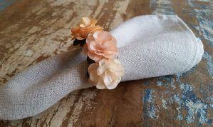 Porta Guardanapos  / Flores de Tecido - Flor de Laranjeira