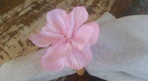 Porta Guardanapos  / Flores de Tecido - Flor de Cerejeira