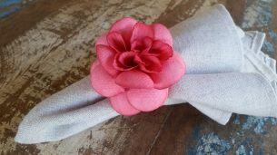 Porta Guardanapos  / Flores de Tecido - Gardênia