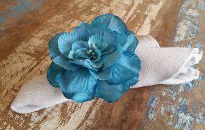 Porta Guardanapos  / Flores de Tecido - Maravilha