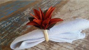 Porta Guardanapos  / Flores de Tecido - Lírio