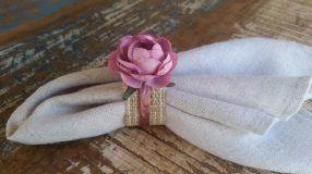 Porta Guardanapos  / Flores de Tecido