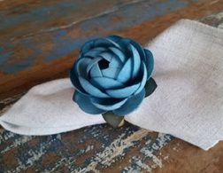 Porta Guardanapos  / Flores de Tecido - Amarilis