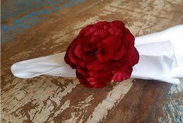 Porta Guardanapos  / Flores de Tecido - Calêndula