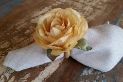 Porta Guardanapos  / Flores de Tecido - Rosa Claire